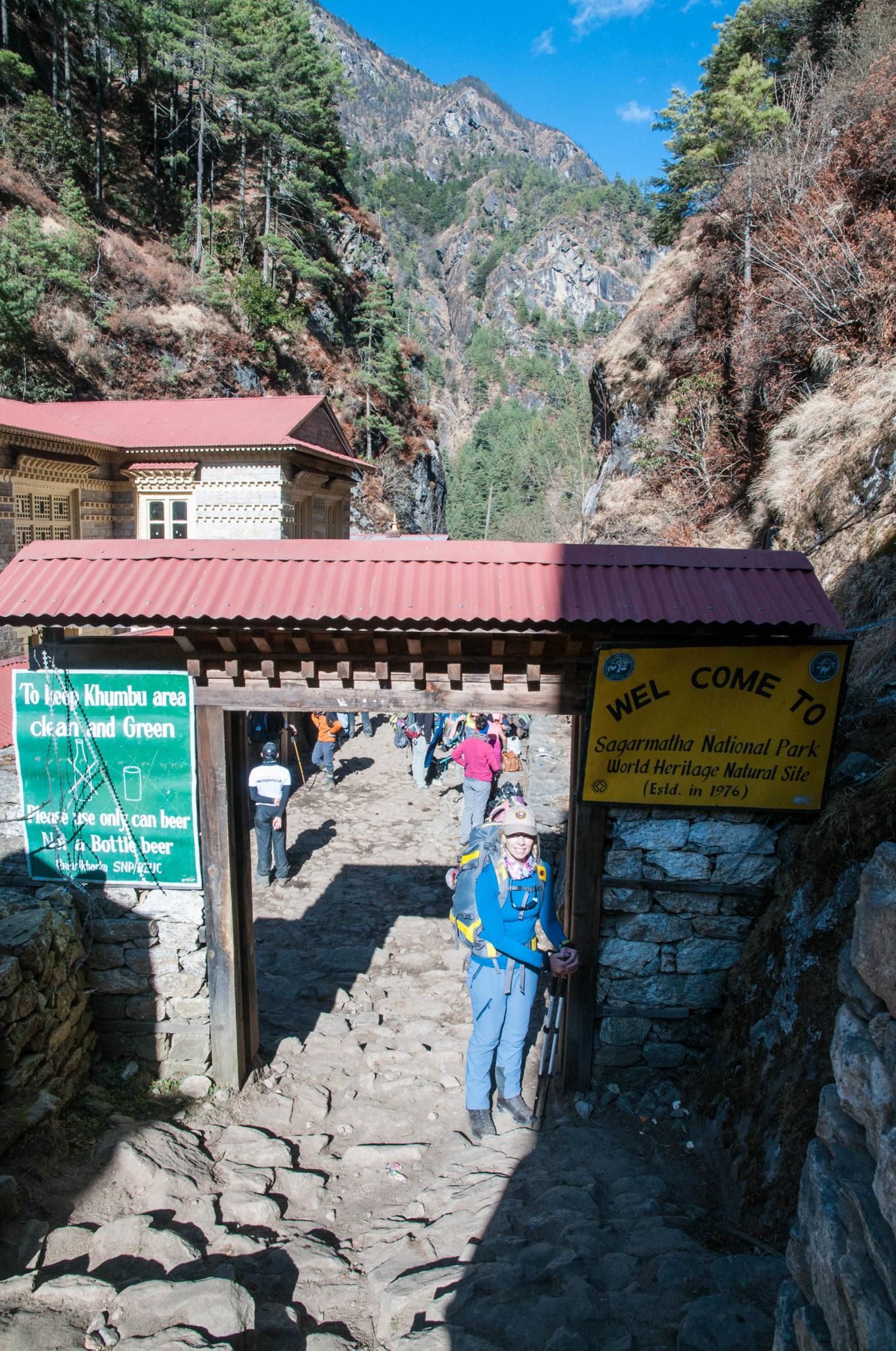Gateway to the Sagarmatha National Park
