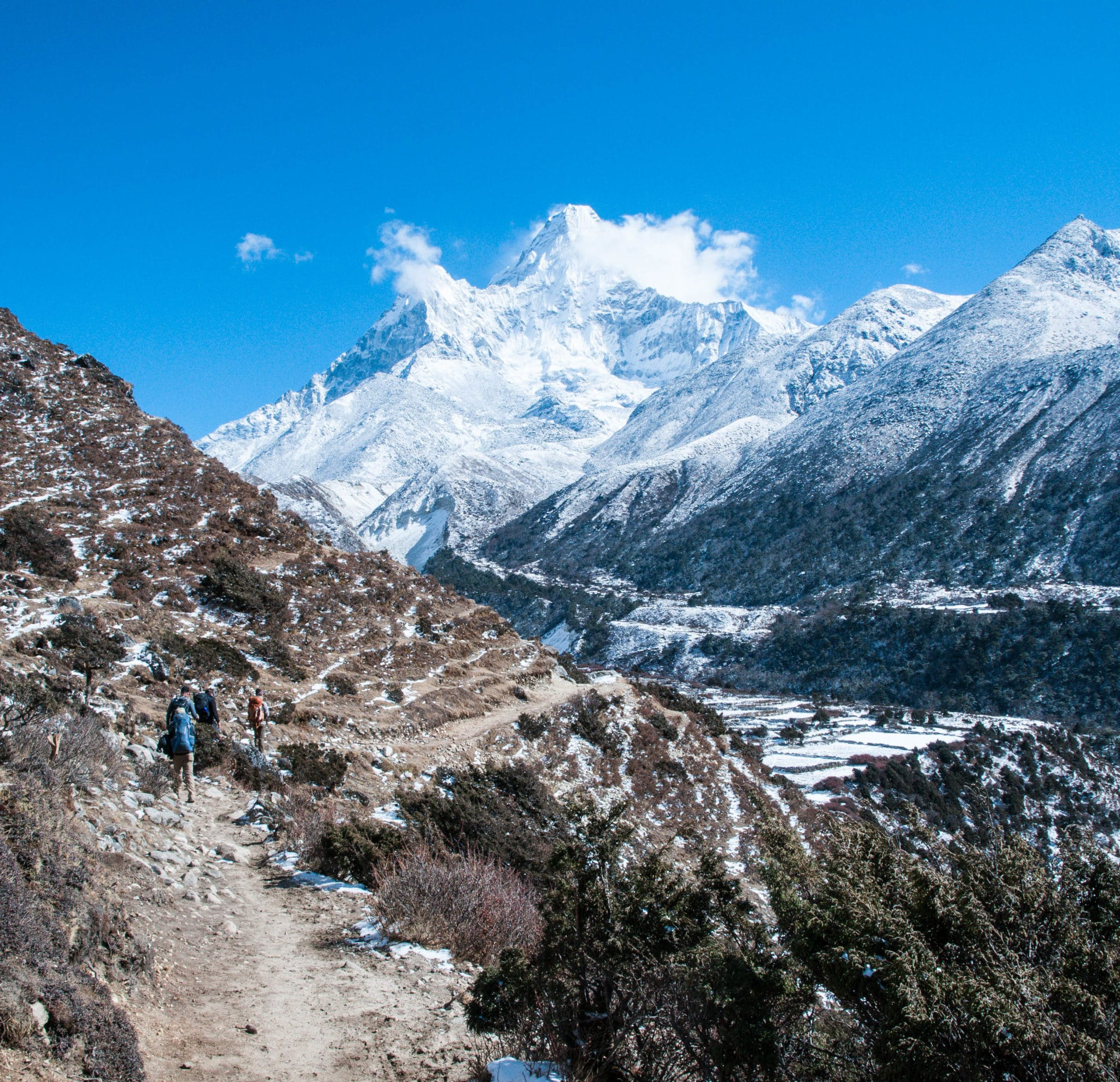 On the way to Pangboche