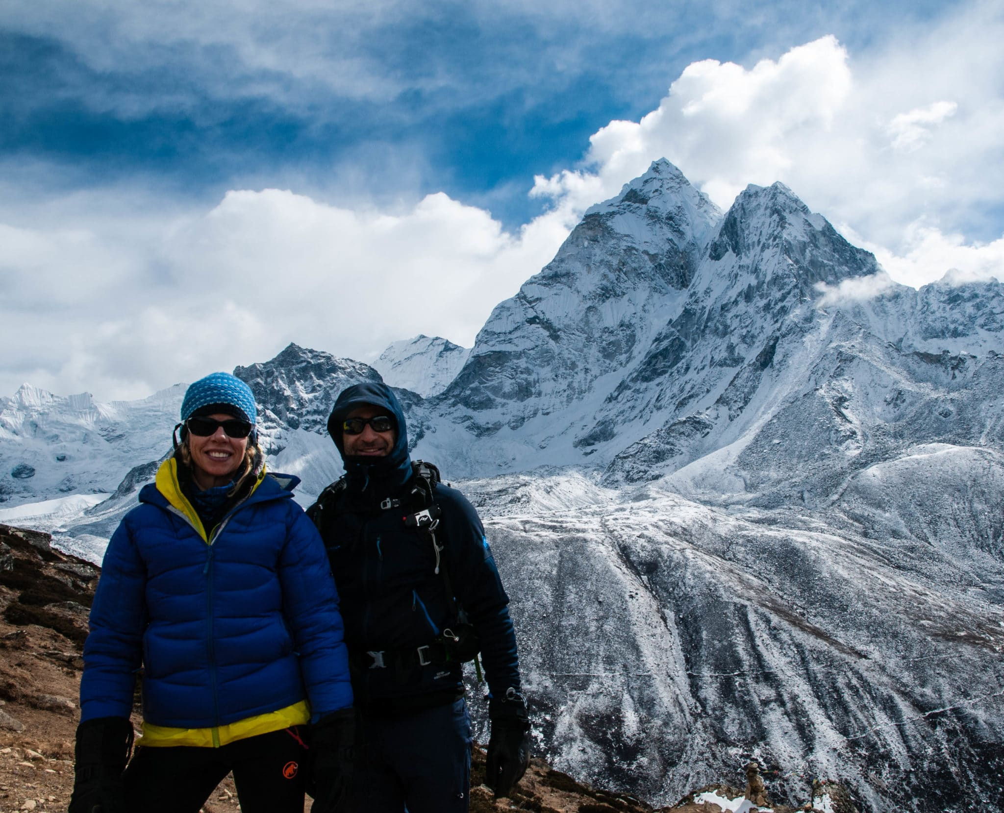 Julie and Shawn above Dingboche on an acclimatization day hike