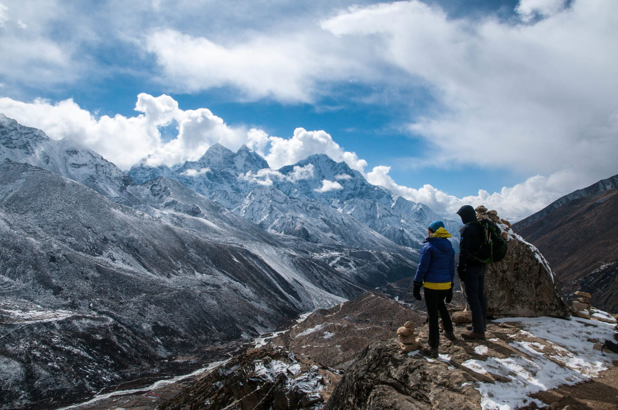 Taking in the view above Dingboche