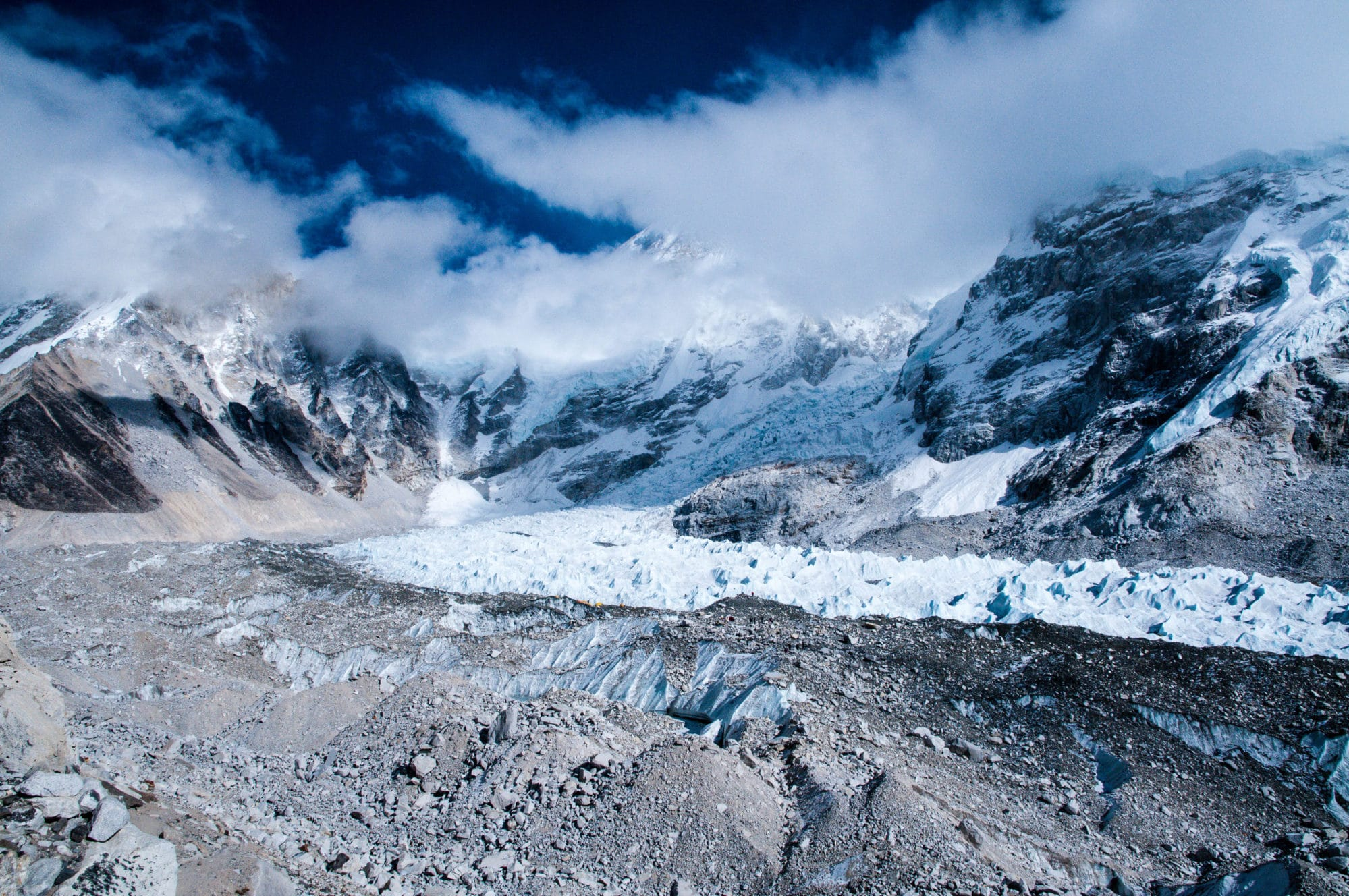 The Khumbu Icefall, Glacier, and Mount Everest Base Camp