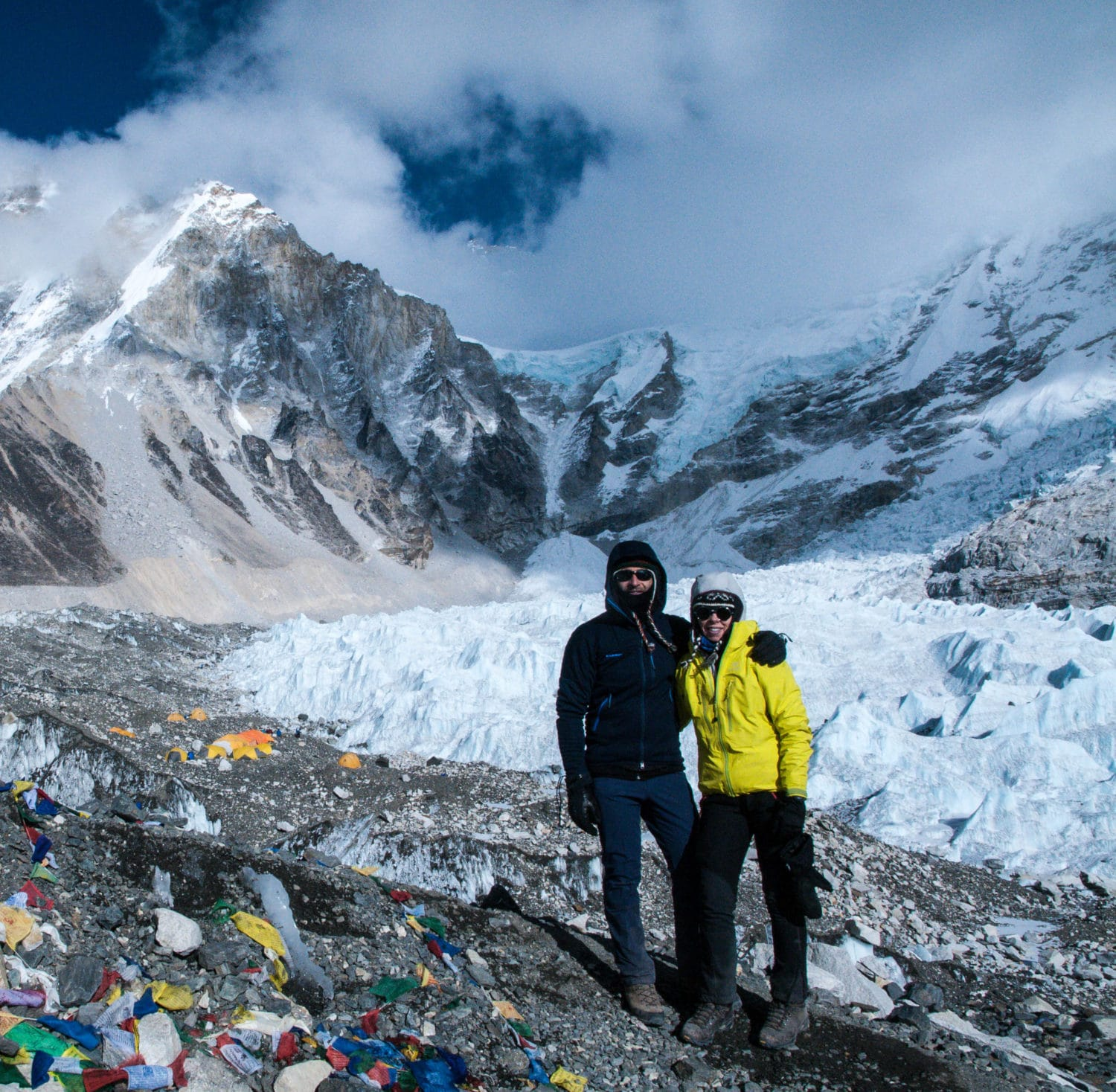 Julie and Shawn at Mount Everest Base Camp