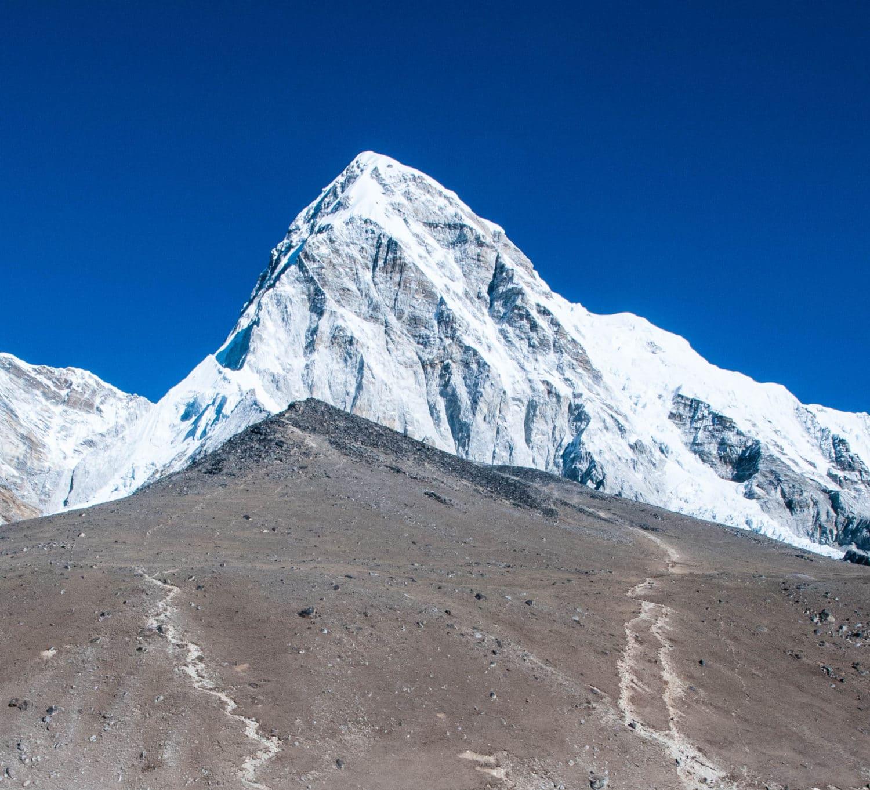 Kala Patthar (18,500') and Pumori (23,500')