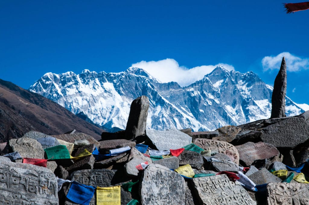 Mount Everest Lhotse from Tengboche