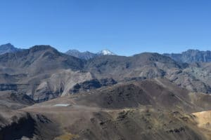 Andean panorama, far above Santiago