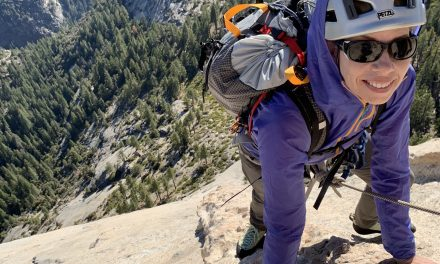Rock Climbing the Snake Dike route on Half Dome in Yosemite National Park