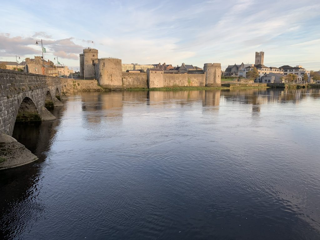 King John's Castle and St. Mary's Cathedral in Limerick, Ireland